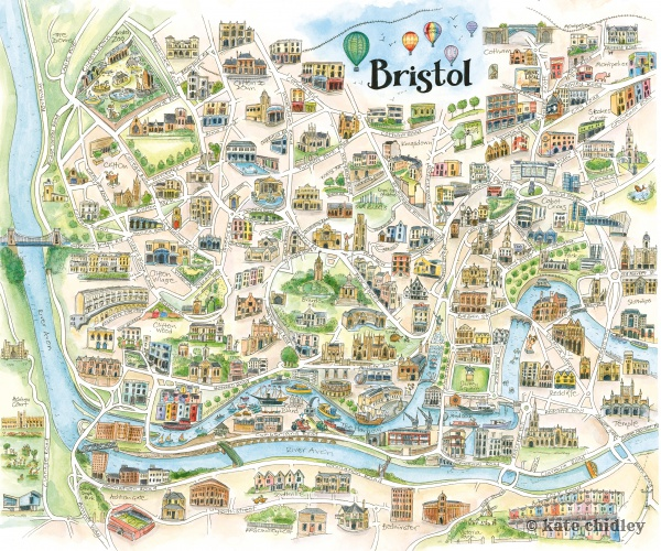 Win a illustrated map of Bristol