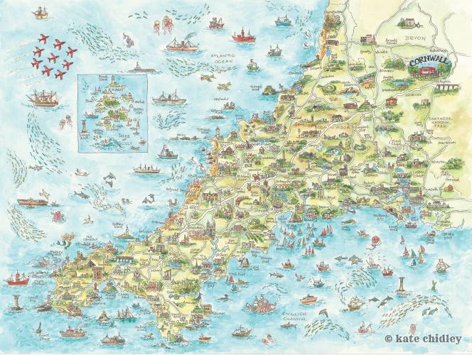 New Cornwall map !