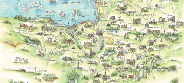 Somerset Maps Prints For Sale Kate Chidley