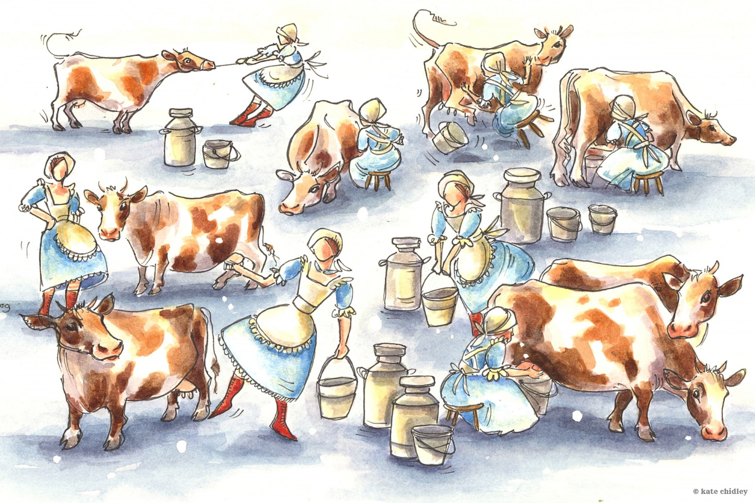 Christmas eight maids a milking as well as a christmas carol coloring