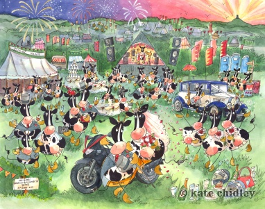 Pilton cowtoon wedding