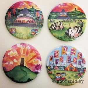 4 x Fancy festival magnets