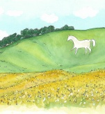 White Horse. Cherhill. Wiltshire