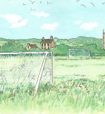 Village footbal pitch, England, I love you
