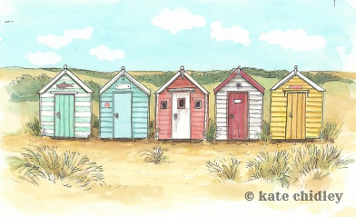 Beach Huts, England , I love you.